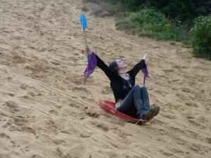 sand dune sledging