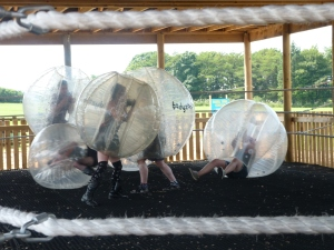 body zorbing, Heatherton adventure park