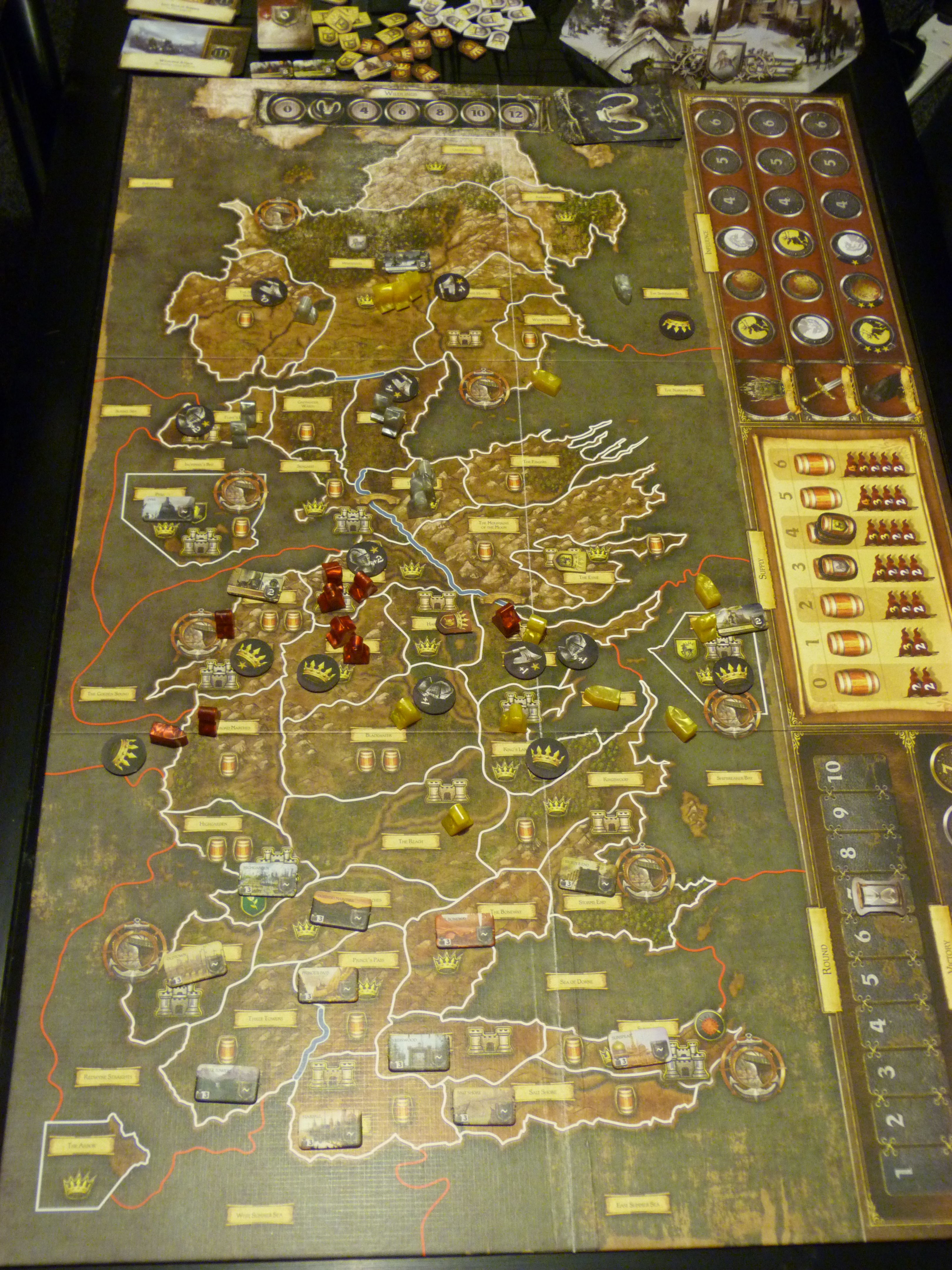 Board Game Counter Game of Thrones Board Game