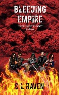 CL Raven Bleeding Empire Book Cover Horror
