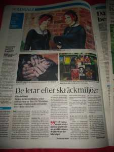 full page article in Norrkoping tidningar
