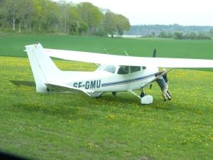 pushing a plane